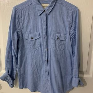 Forever 21 Baby Blue Button down Shirt- Large